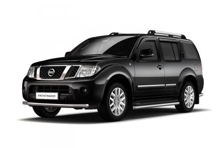 Защита переднего бампера одинарная d63мм Nissan Pathfinder (нерж)